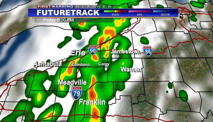 Heavier storms this afternoon