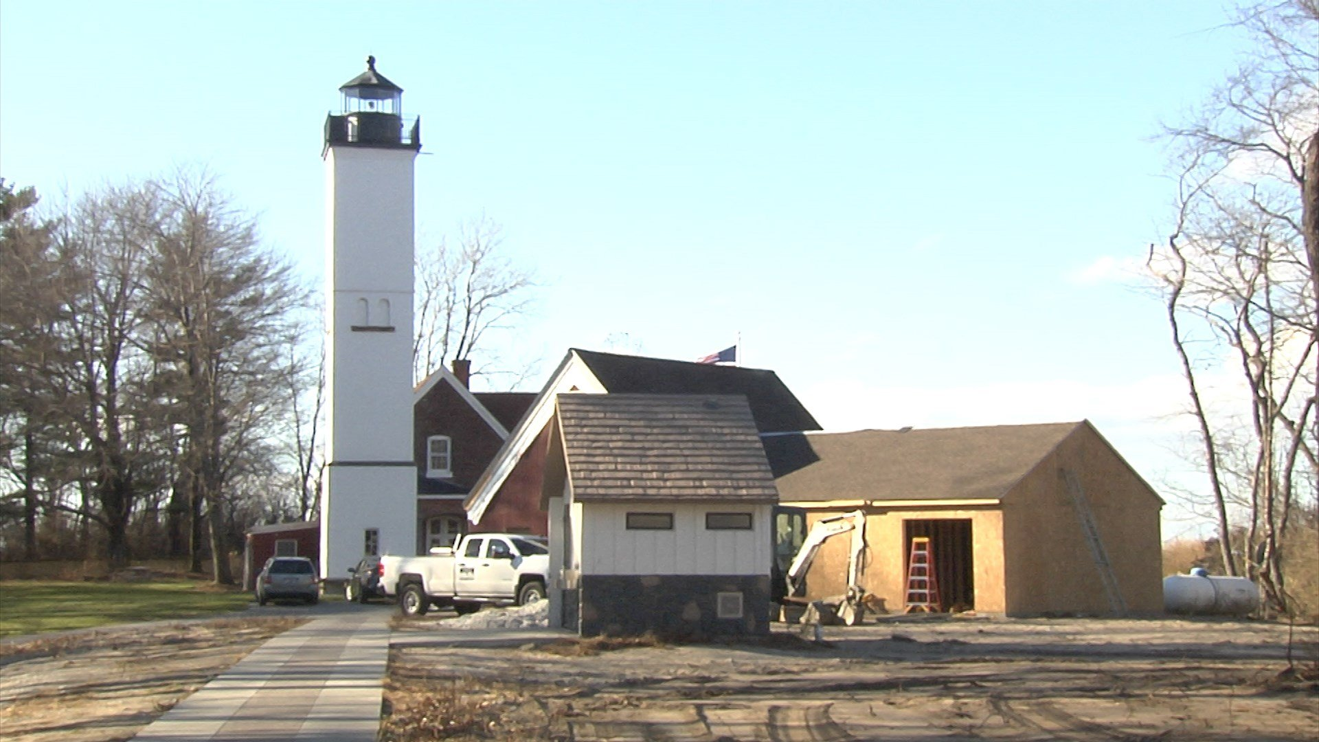Construction underway on Presque Isle Lighthouse operations center