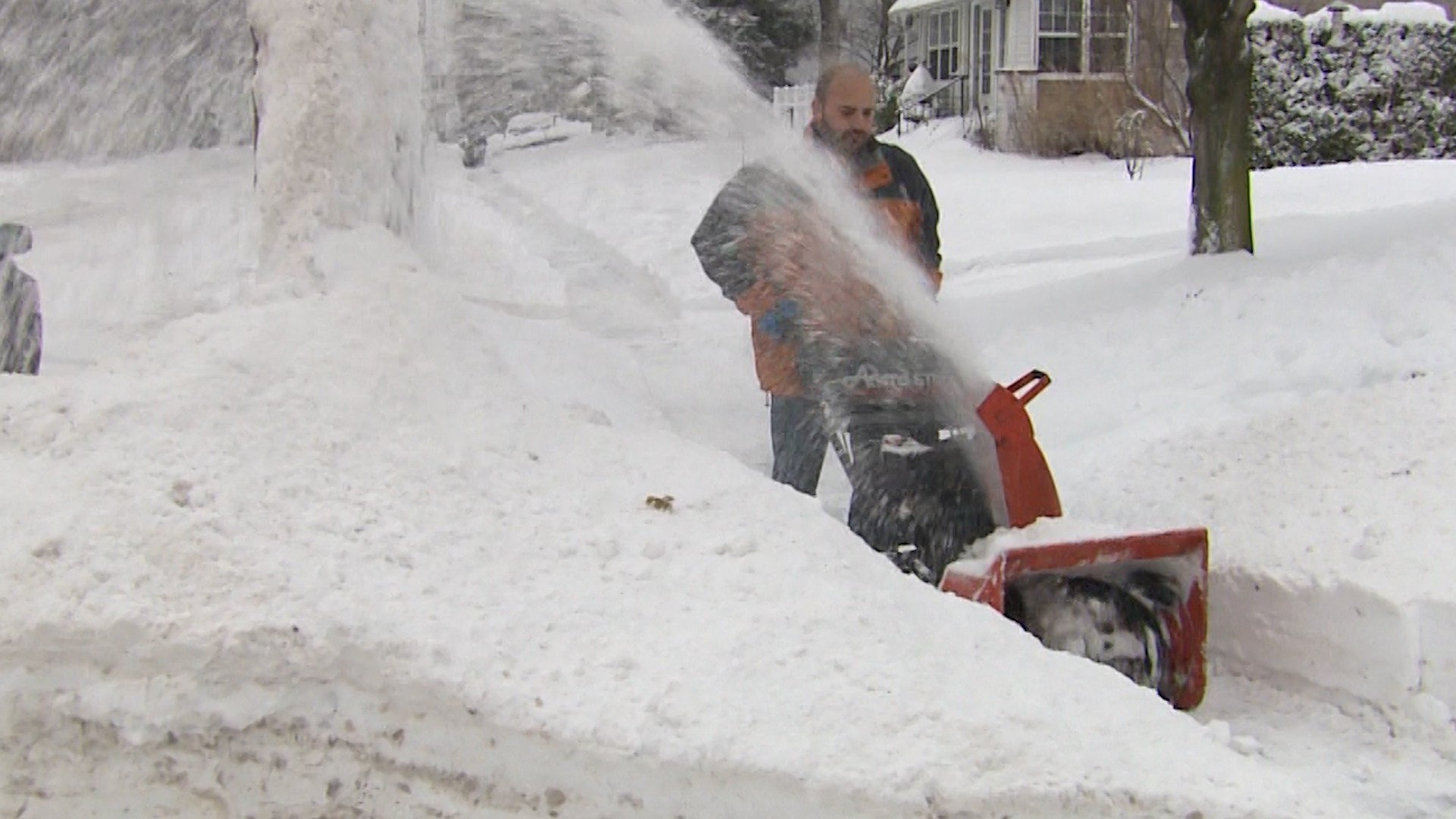 Digging and blowing out from the first deep snow of the season