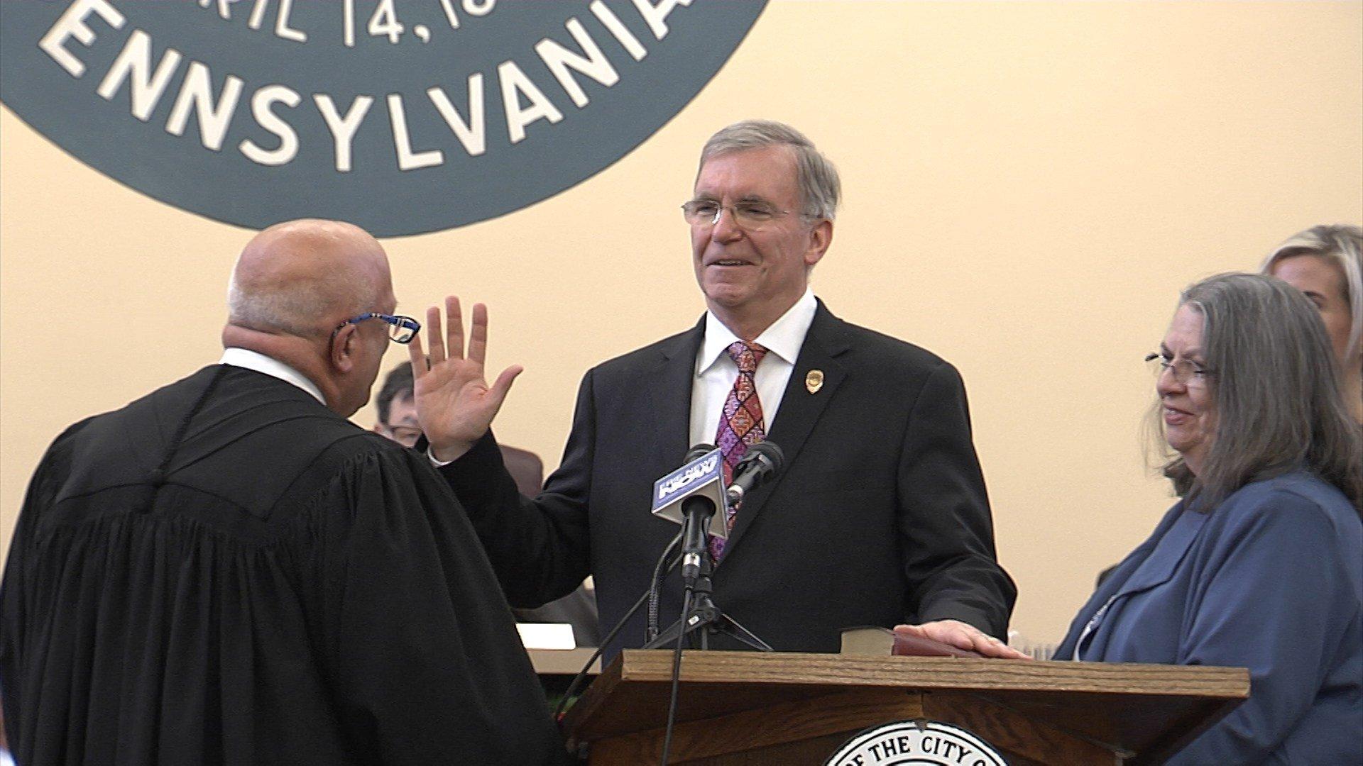 Joe Schember sworn in as 48th Mayor of Erie