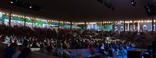 Nearly sold out crowd at Chautauqua's Amphitheater