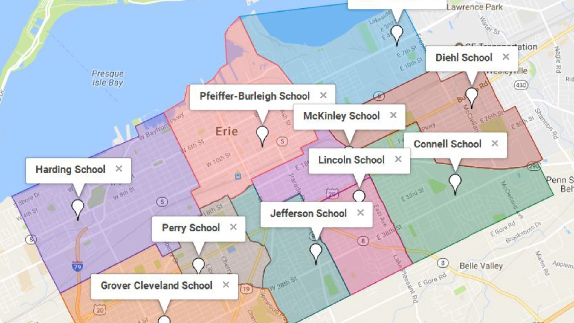 Erie School District Creates Interactive Boundary Map Erie News