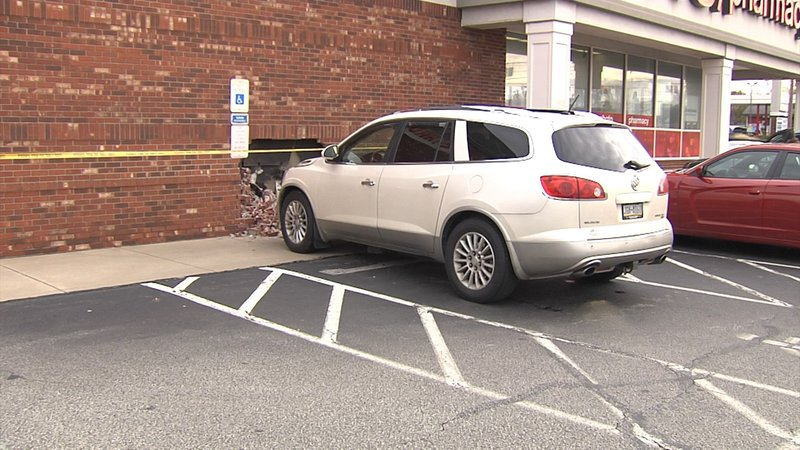 weny news car drives into wall of cvs pharmacy in millcreek
