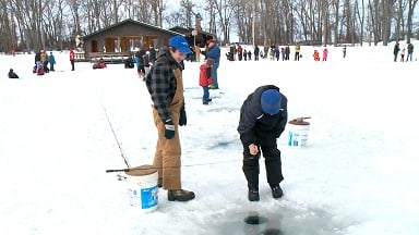 Family ice fishing day reels in its biggest crowd erie for Pa ice fishing