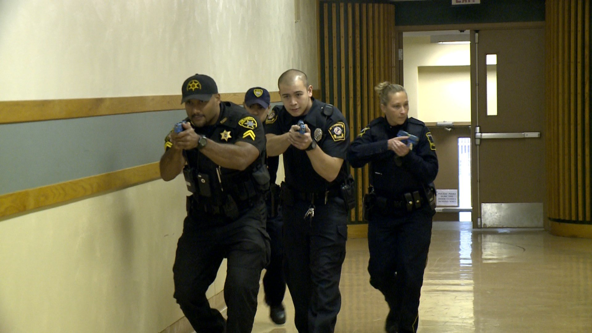 Local Police Take Part In Active Shooter Drill At Former