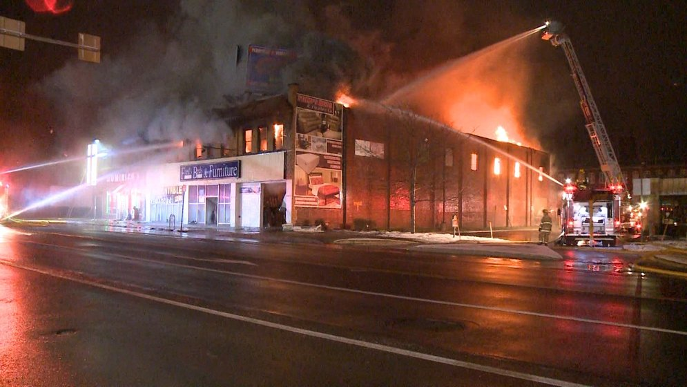 Police investigate quot fred s beds fire as arson erie news