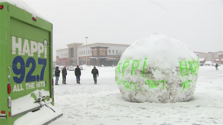 Group Rolls Big Snowball At Millcreek Mall Erie News Now Wicu