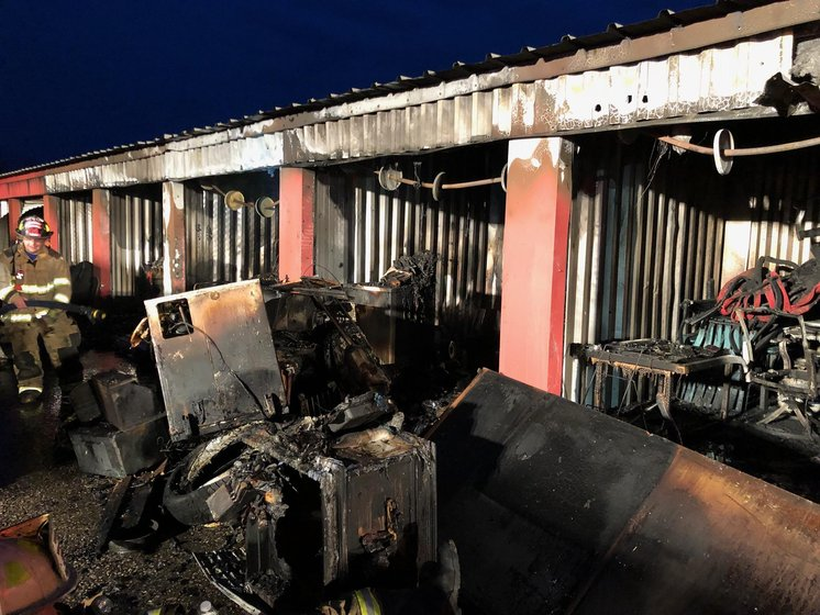 Fire Heavily Damages Storage Units In Fairview Erie News