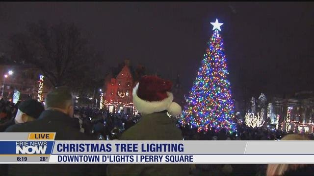 Perry Square Erie Pa 2020 Christmas Lighting Erie Lights Up with 13th Annual Downtown D'Lights   Erie News Now