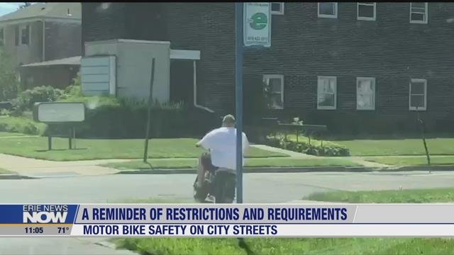 Police Warn Motor Bicyclists of Unlawful Operation - Erie