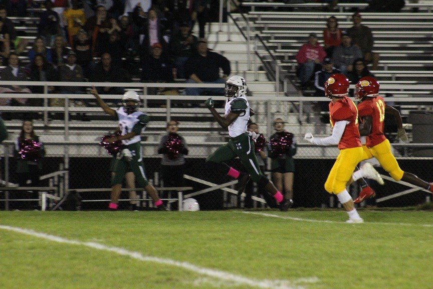 Iyan Baker's first touchdown run
