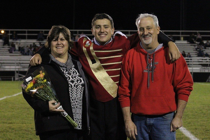 Marching Band senior recognized