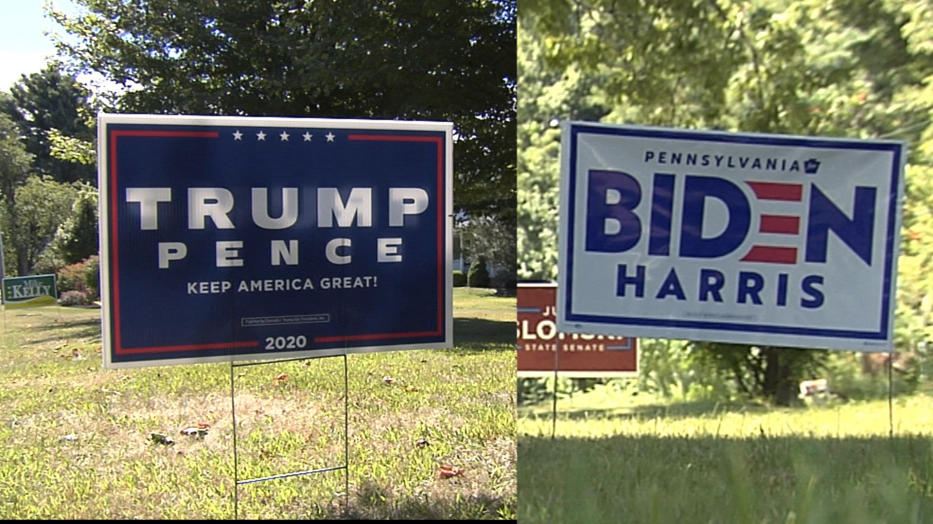 Biden Supporters Say Campaign Signs Stolen From Yards Trump Sup Erie News Now Wicu And Wsee In Erie Pa
