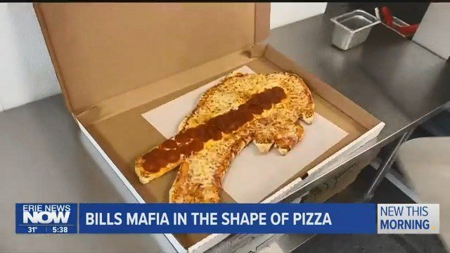 Buffalo Bills Shaped Pizza - Erie News Now | WICU and WSEE in Erie, PA